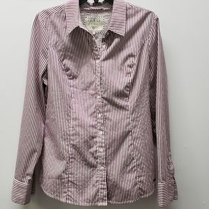 Guess button-down long sleeve striped shirt Size L